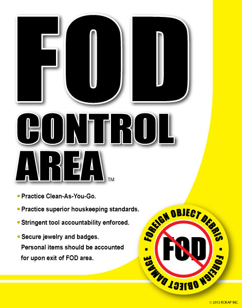 Fod Signs and Frames | FOD Prevention ( Foreign Object Debris )
